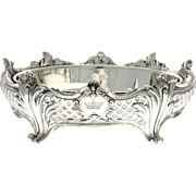 Christofle Silver Plated Centerpiece Jardinere, France, Circa 1900.