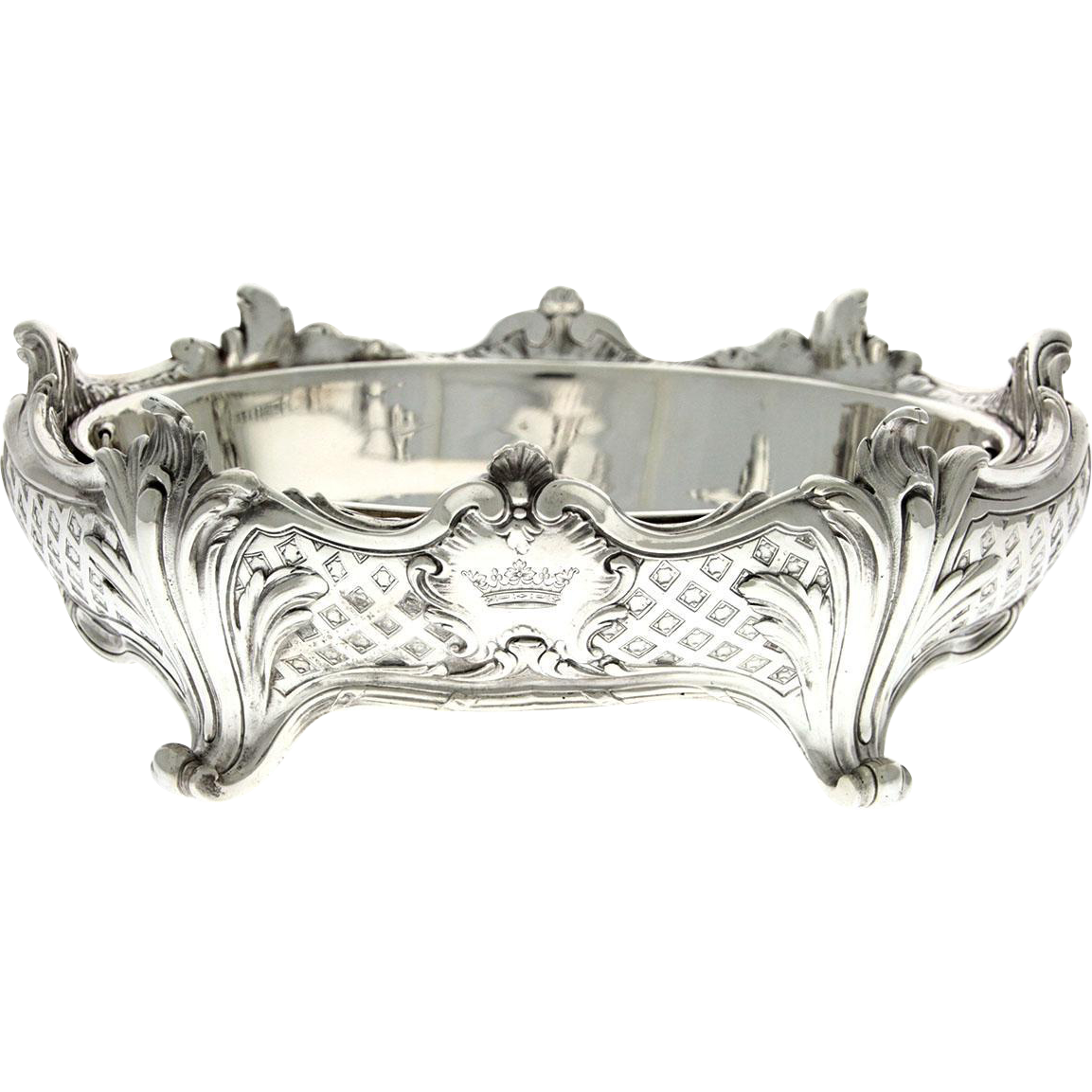 Christofle Silver Plated Centerpiece Jardinere, France, Circa 1900.