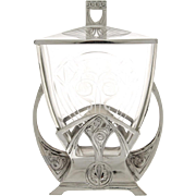 WMF Art Nouveau Silver Plated Biscuit Box and Cover, Germany, Circa 1900.