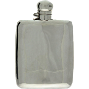 Sterling Silver Hip Flask, James Dixon, Sheffield, England, 1894.