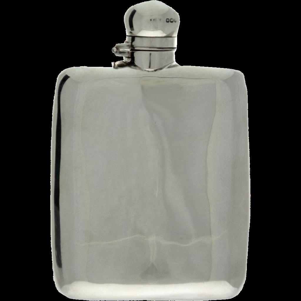 Sterling Silver Hip Flask, James Dixon, Sheffield, England, 1894.