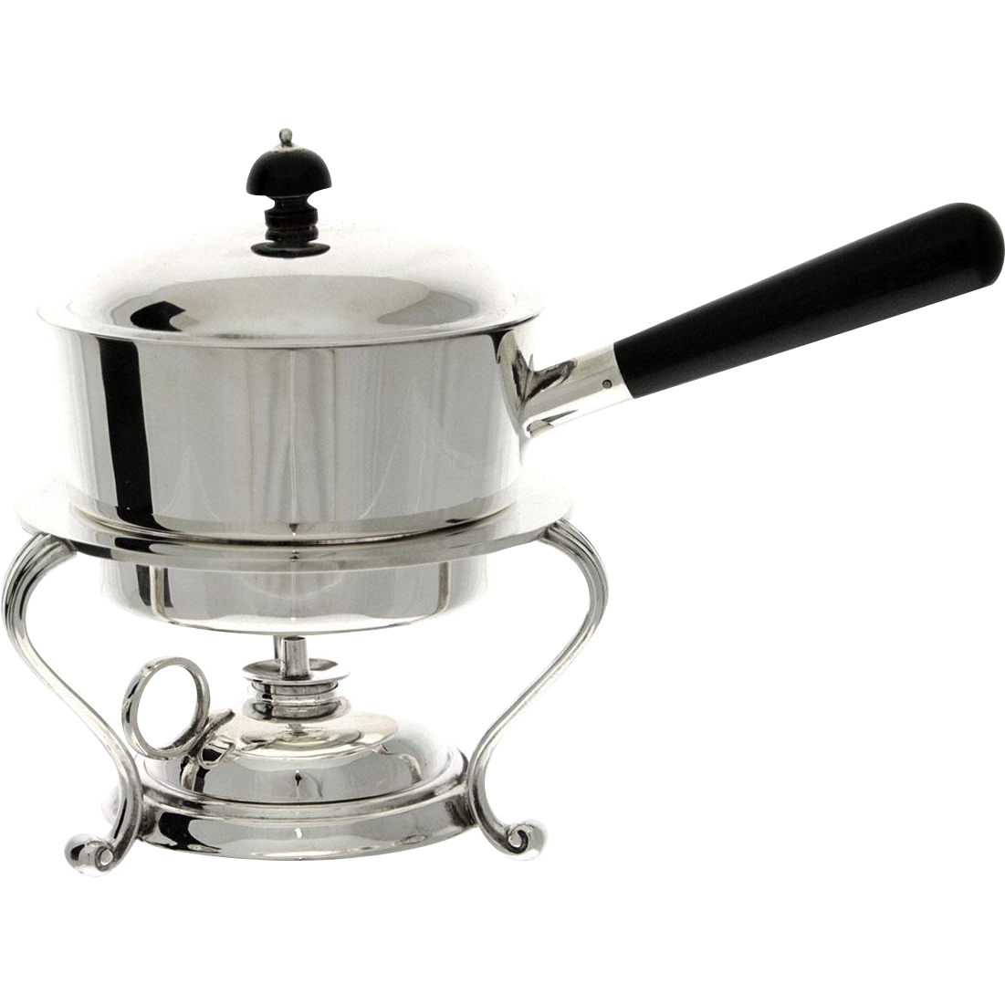 Silver Plated Egg Warmer Coddler Server, Atkin Brothers, Sheffield, England, Circa 1900.