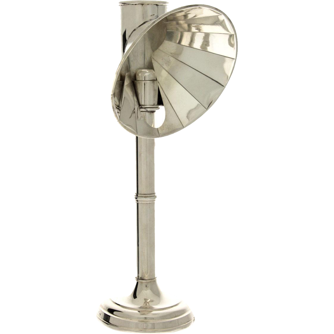 English Silver Plated Candle Student Lamp, Circa 1910.