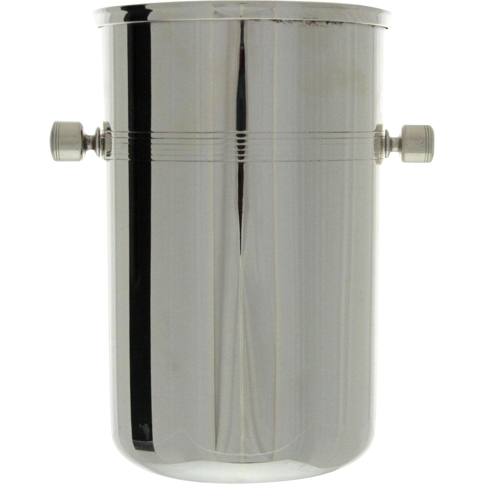 French Art Deco Silver Plated Champagne Wine Bottle Cooler / Ice Bucket, Produx Saint Hilaire, Paris, Circa 1920.