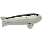 Novelty English Silver Plated Zeppelin Air Ship Cocktail Shaker.