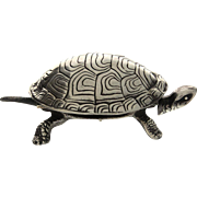 Novelty Silver Plated Turtle Table Bell.
