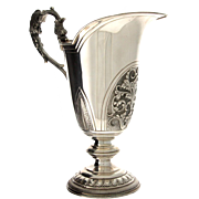 Italian Silver Pitcher Jug, Alessandria, 1944-1968.