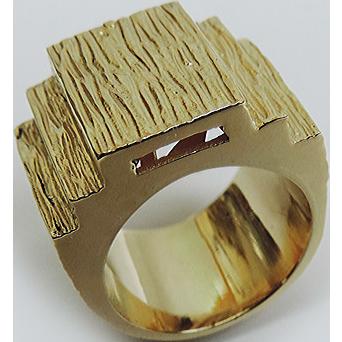 14 Karat Yellow Gold Pinky Ring