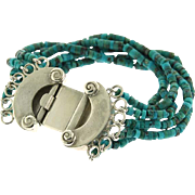 New Sterling Silver and Turquoise Bracelet.
