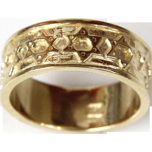 New 14 Karat Yellow Gold Star of David Ring, Judaica.