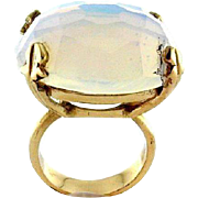 14k Yellow Gold & Opalite Ring