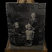 Schaefers Wonder Midgets Family Postcard~Father/Mother Child