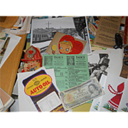 Drawer Lot Vintage Paper Goods/Ephemera/Pictures/Buttons & More for Scrap Booking or Shadow Box