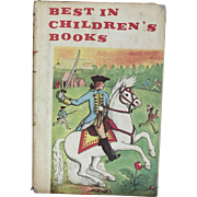 Vintage Book Best in Children's Books 1959 by Nelson Doubleday, Inc.