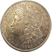 1921 Morgan Silver Dollar Philadelphia Mint VF-20+