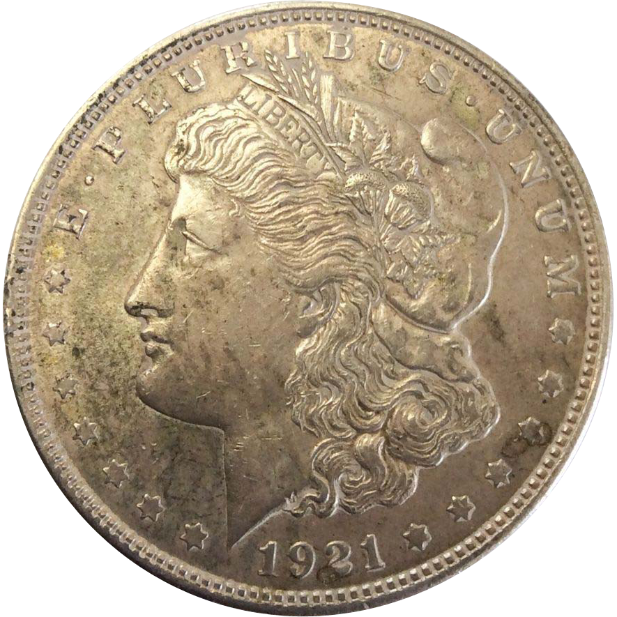 1921 Morgan Silver Dollar Philadelphia Mint VF-20+