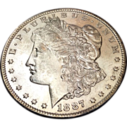 1887 O Morgan Dollar MS63+