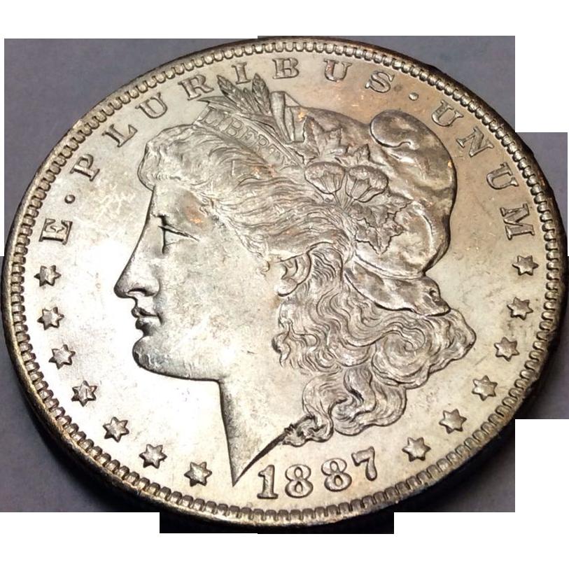 1887 O Morgan Dollar MS63+