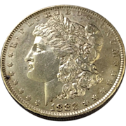 1883 O Morgan Silver Dollar AU-58+