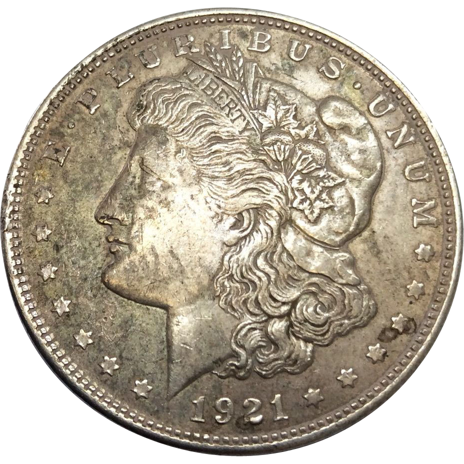1921 Morgan Silver Dollar Philadelphia Mint Graded Au From