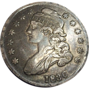 1836 Capped Bust Half Dollar Fine-Very Fine