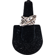 John Hardy Kali Twist Ring- Sterling Silver- Pebble Crossover design