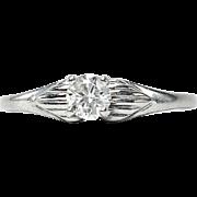 14k Solitaire Diamond Ring