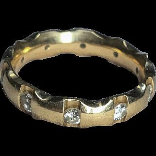 14k 10-Diamond Eternity Band Ring