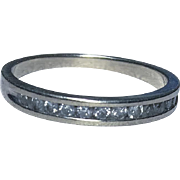 10k White Gold 12-Diamond Band Ring