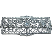 14k Edwardian Era Diamond Pin
