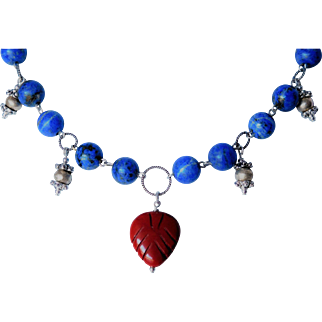"Red Jasper ""arrow"" necklace"