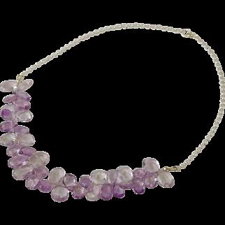 Amethyst tear drop necklace