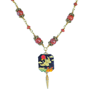Enamel wedding charm necklace