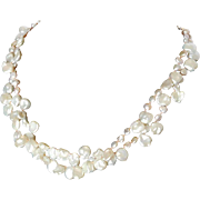Cultured fresh water Keshi pearl necklace