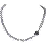 Bridal jewelry  fresh water cultured pearl necklace