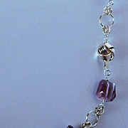 Natural Ametrine nugget necklace
