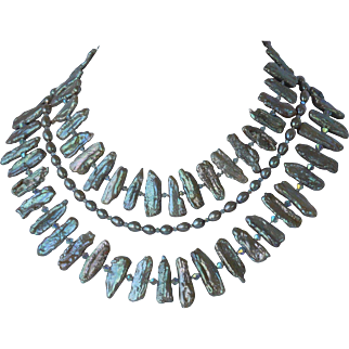 Egyptian style collar necklace