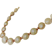 Mabe pearls and copper bead necklace