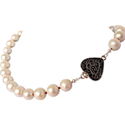 Genuine Akoya cultured pearl necklace