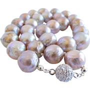 Edison cultured pearl necklace