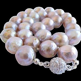 Edison cultured pearl necklace