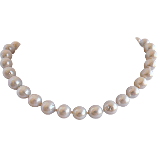 Wedding jewelry traditional strand of  fresh water pearls with elegant clasp