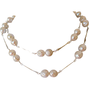Natural Akoya salt water pearl necklace