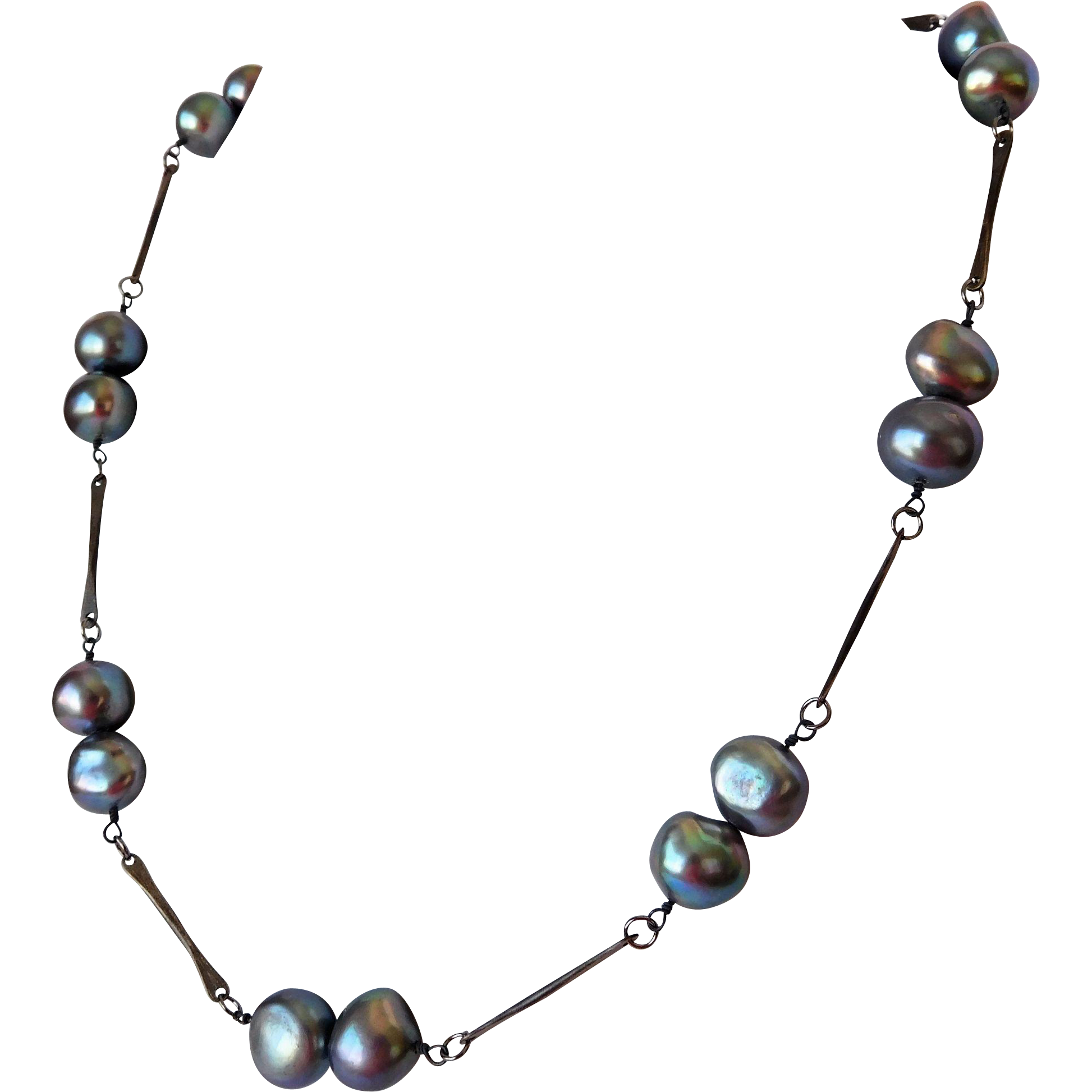 Baroque fresh water pearl necklace and earring set