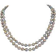 """Big Tail"" Akoya salt water pearl necklace"