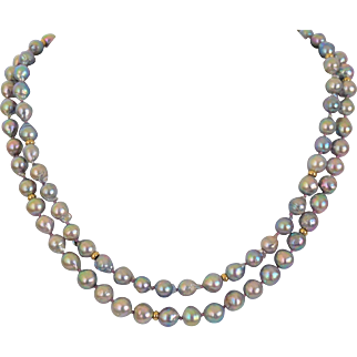 """Big Tail"" Akoya salt water pearl necklace"