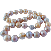 Multi color Edison pearl necklace