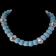 Owyhee American Blue opal necklace