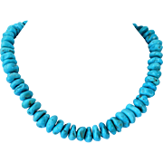 Sky blue Kingman turquoise necklace