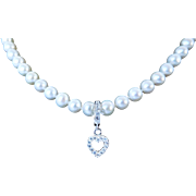 Cultured fresh water pearl and gemstone necklace